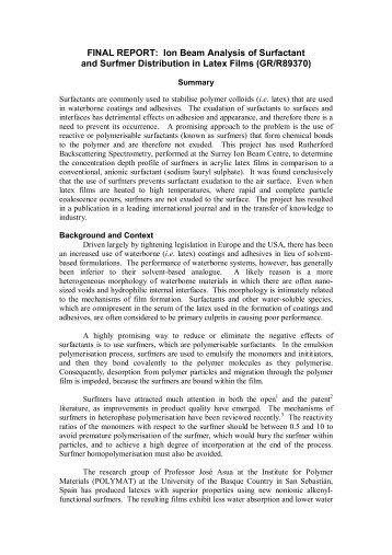 Macromolecule report