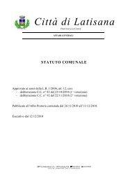 Comune di Latisana: modifiche allo Statuto comunale