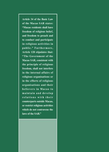 Article 34 of the Basic Law of the Macao SAR ... - Macao Yearbook