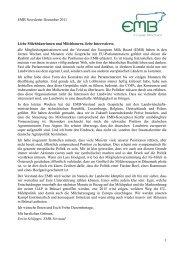 EMB Newsletter Dezember 2011 Liebe Milchbäuerinnen ... - IG-Milch