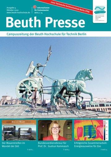 Beuth Presse 4/2010 - Beuth Hochschule für Technik Berlin