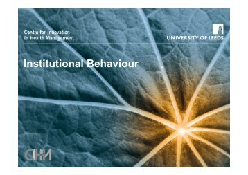 Institutional Behaviour