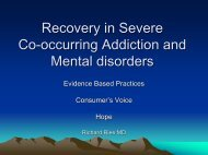 Recovery in Severe Co-occuring Addiction and Mental ... - CASAT