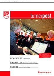 Turnerpost 1 2007 - Gütersloher Turnverein von 1879 eV