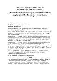 Règlement n°2005-10 du 3 novembre 2005 du comité de la ...
