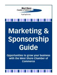 Sponsorship Catalog 2012 - West Shore Chamber of Commerce