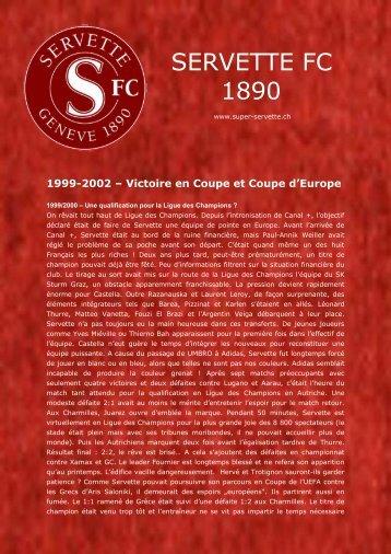 Victoire en Coupe et Coupe d'Europe! - Super Servette