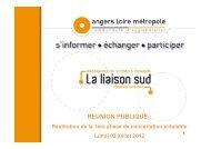 REUNION PUBLIQUE : - Angers Loire Métropole