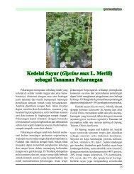 Kedelai Sayur (Glycine max L. Merill) sebagai ... - Hortikultura
