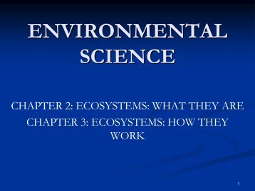 Chapter 3 Ecosystems and How they Work