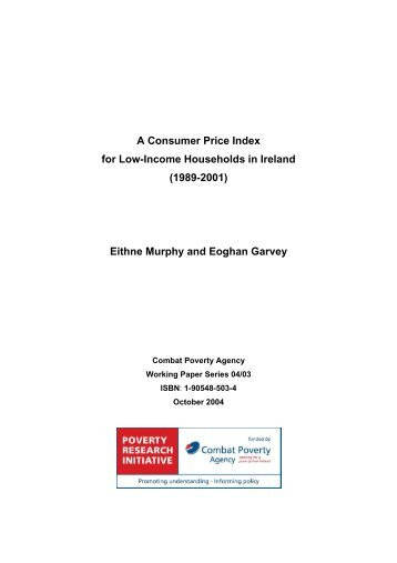 A Consumer Price Index for Low-Income Households in Ireland ...