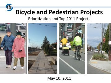 Bicycle and Pedestrian Projects Presentation