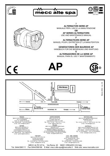 Mecc Alte Spa Wiring Diagram - Free Vehicle Wiring Diagrams •