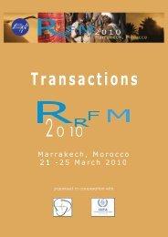 RRFM 2010 Transactions - European Nuclear Society