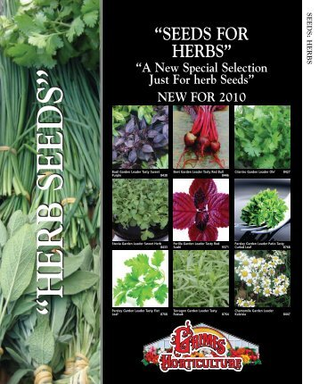 """SEEDS FOR HERBS"""