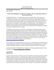 White House Press Release - National Council of Juvenile and ...
