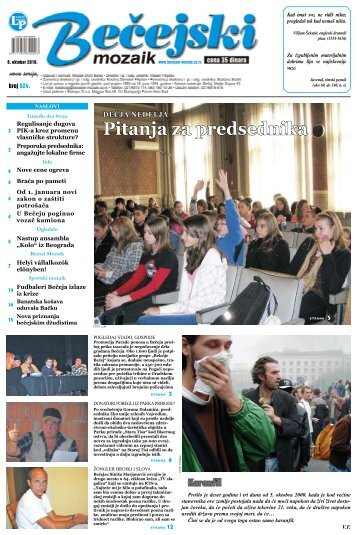 Pitanja za predsednika - Bečejski mozaik