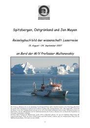 Spitzbergen, Ostgrönland und Jan Mayen - Christophe Gouraud