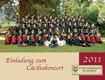 Einladung Cäciliafest.indd - Trachtenmusikkapelle Flachau