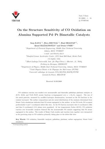 On the Structure Sensitivity of CO Oxidation on Alumina Supported ...