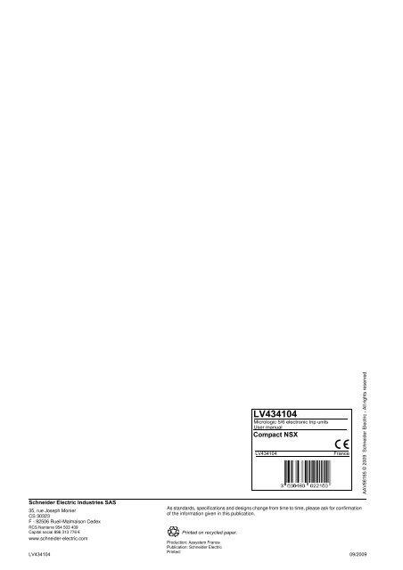 User manual 09/2009 - Schneider Electric