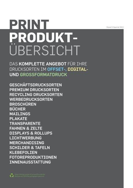 PRINT PRODUKT- ÜBERSICHT - Werbeagentur twostep.at