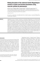Mating disruption of the ambrosia beetle Megaplatypus mutatus in ...