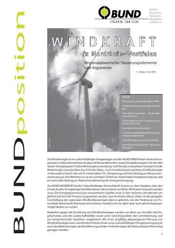 WINDKRAFT in Nordrhein-Westfalen - Bund für Umwelt und ...