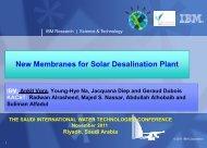 New Membranes for Solar Desalination Plant - saudi international ...