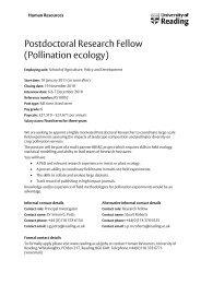 Postdoc position Reading, UK crop pollination.pdf - COLOSS
