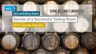2013 Tasting Room Survey - Silicon Valley Bank