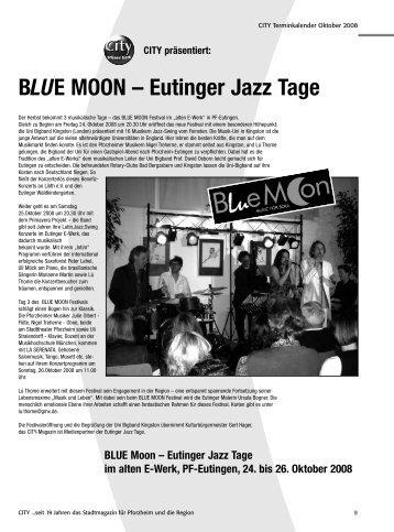 BLUE MOON – Eutinger Jazz Tage - CITY Stadtmagazin