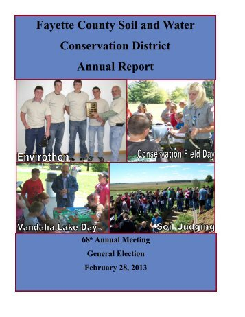 Conservation Conversation - Dec. 2012 - Jan. 2013 - Fayette County ...