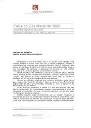 Festa do 9 de Março de 1990 - Casa de Sarmento - Universidade do ...