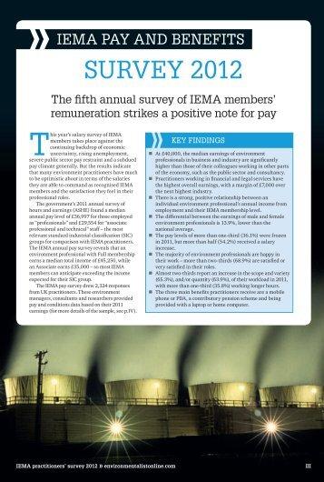 sUrVey 2012 - IEMA