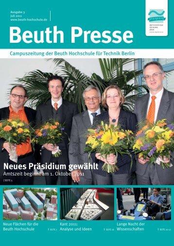 Neues Präsidium gewählt - Beuth Hochschule für Technik Berlin