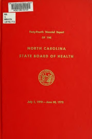 Biennial report of the North Carolina State Board of Health [serial]
