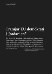 Främjar EU demokrati i Jordanien? - Statsvetenskapliga ...