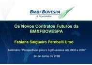Fabiana S. Perobelli Urso, diretoria de Produtos do ... - BM&FBovespa