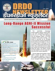 Vol. 30, Issue 06, June 2010 - DRDO