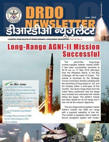 Vol. 30, Issue 06, June 2010 - DRDO