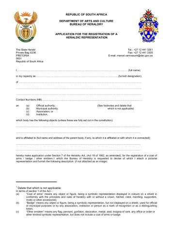 Registrations of Associations - National Archives of South Africa