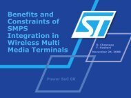 Benefits and Constraints of SMPS Integration in Wireless Multi ...