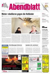 Mieter rebellieren gegen die Holländer - Berliner Abendblatt