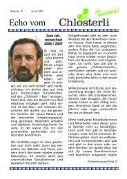 Ausgabe Januar Teil 1 - Altersheim Chlösterli, Unterägeri