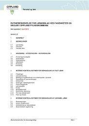 Rutinebeskrivelse for lønningsbilag - Oppland fylkeskommune