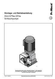 und Betriebsanleitung - DULCO®flex DFAa - Schlauchpumpe