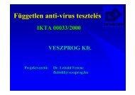előadás - Dr. Leitold Ferenc honlapja