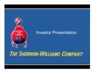 SHW Investor Presentation - Sherwin-Williams