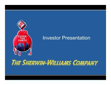 SHW Investor Presentation - Sherwin-Williams